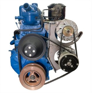 Vintage Air Steel-eez 235 Chevy 1955-62 Driver-side Top-mount Alternator Bracket/Bottom-mount Compressor Bracket - 152830