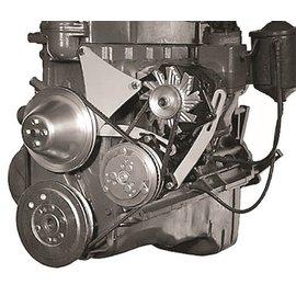 Vintage Air Steel-eez Chevy 6-Cylinder Brackets 235 Chevy 1955-62 driver-side top-mount alternator bracket/bottom-mount compressor bracket - 15284-VCB