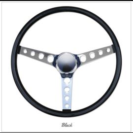 """Mooneyes MOONEYES ORIGINAL """"Finger Grip"""" Steering Wheel 15"""" Black (Vinyl Grip)"""