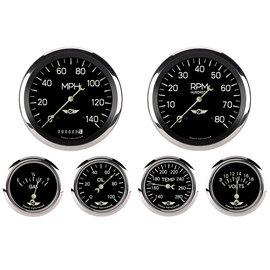 "Classic Instruments 6 Gauge Set - 4 5/8"" Speedo & Tach, 2 5/8""  FOTV - Classic Series - CL951SRC"