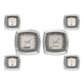 "Classic Instruments 6 Gauge Set - 4"" Speedo & Tach, 2 5/8""  FOTV - Esquire Series - ES01"