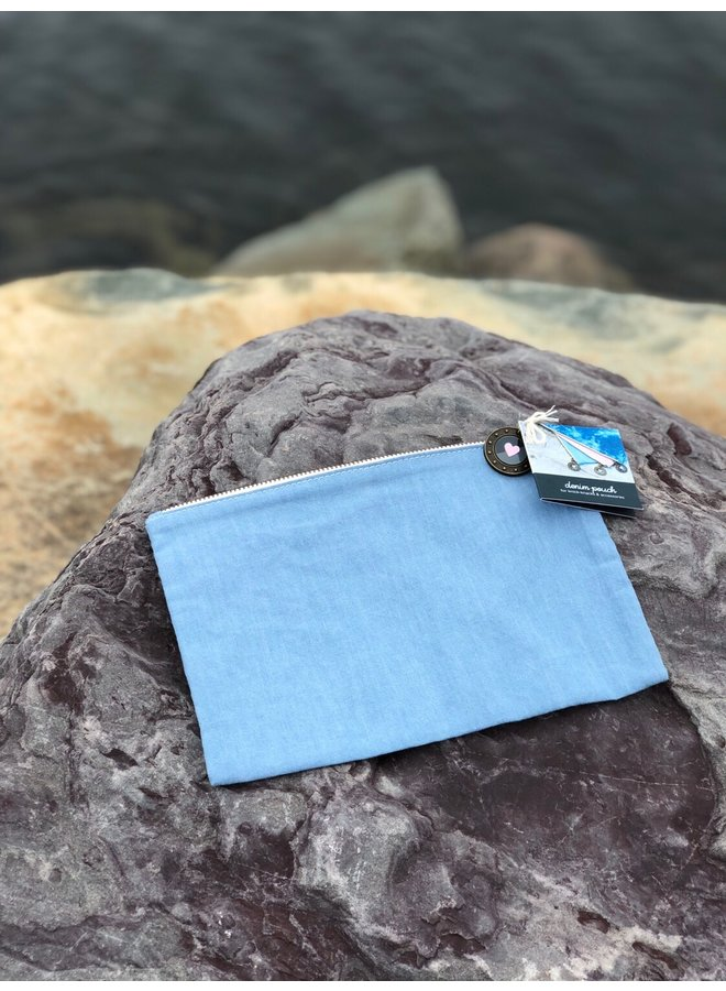 Denim Travel Pouch