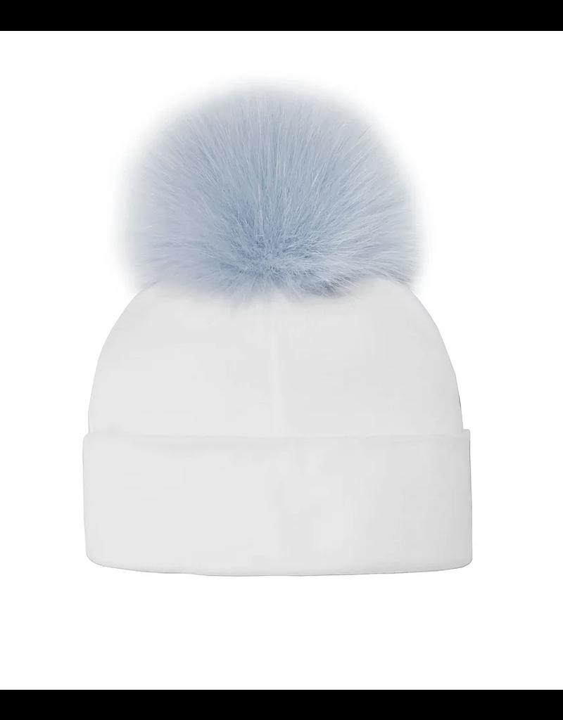 Infant Hat w/Fox Pom