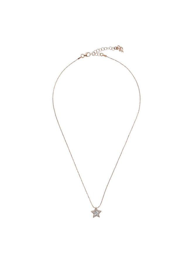 CZ Rose Gold Star Necklace