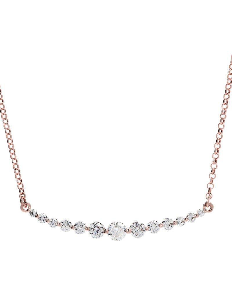 CZ Starry Sky Necklace Rose Gold