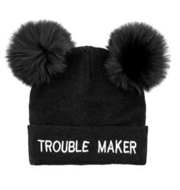 Trouble Maker Double Fox Poms