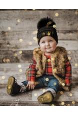 Knit Toddler Hat w/Fox Pom