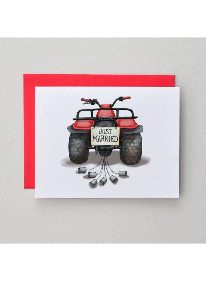 Big Red Wedding Card