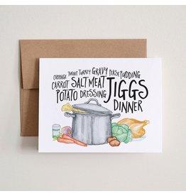 Jiggs Dinner Card