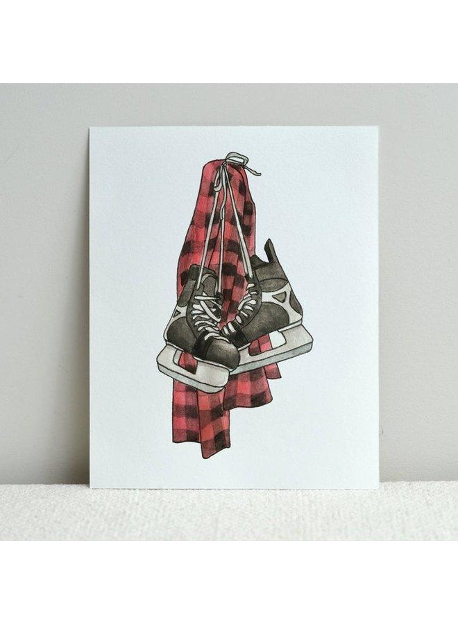 Hockey Skates Print
