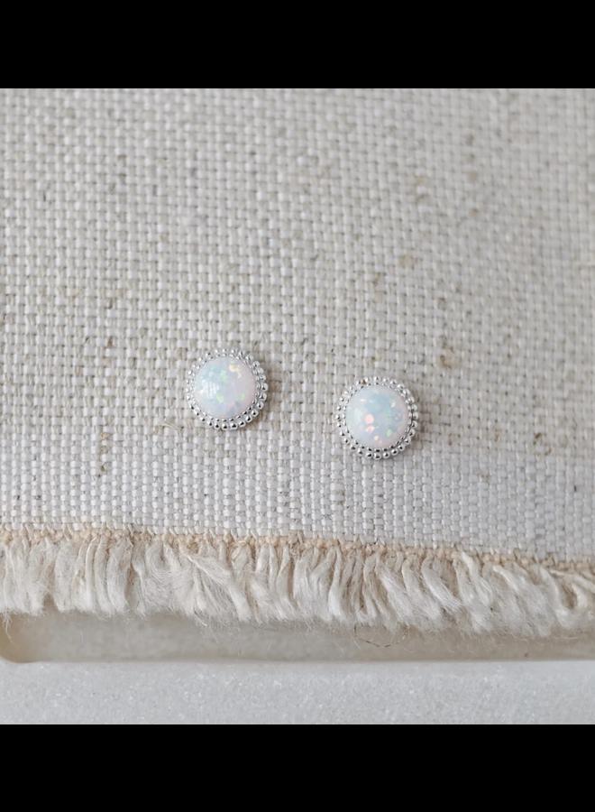 Braided Opal Earrings