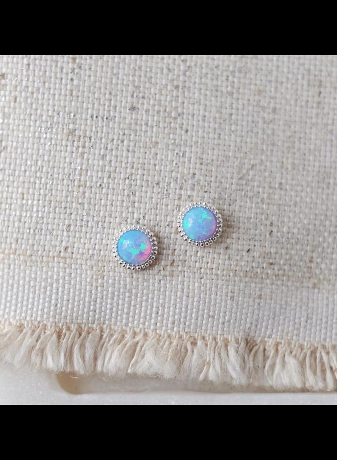Braided Azure Earrings