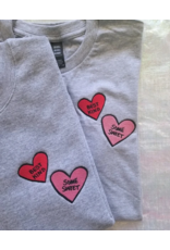 Best Kind Embroidered Hearts Unisex Tee
