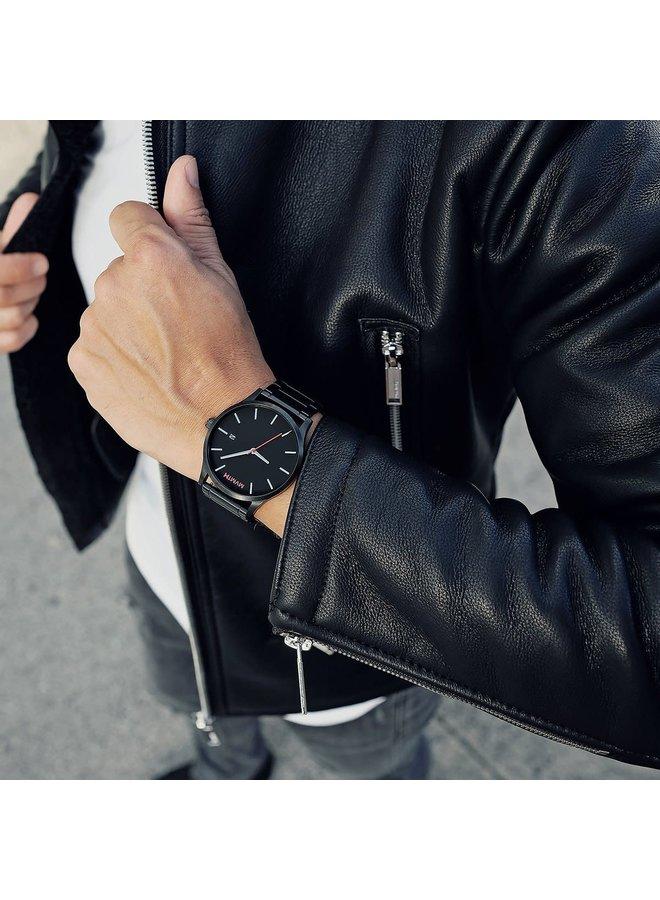 MVMT Classic Black Link Watch