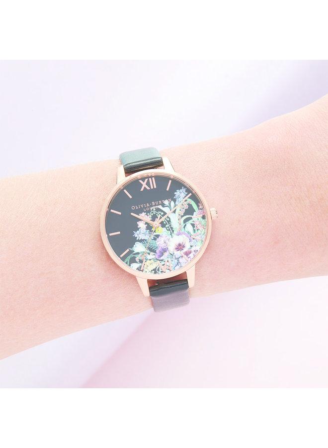 Enchanted Garden Vegan Black & Rose Gold Watch