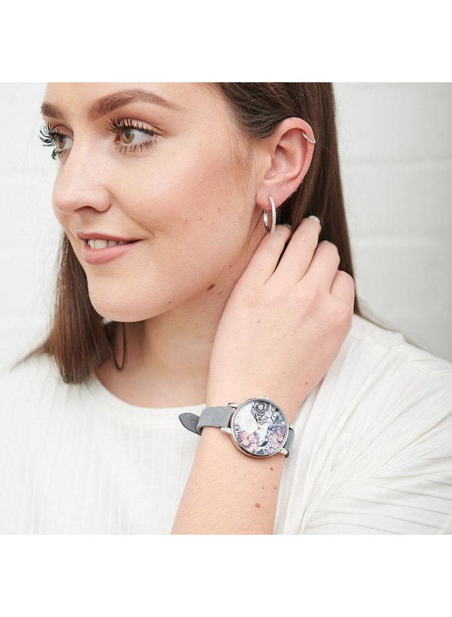Eco Friendly Grey, Rose Gold & Silver Watch