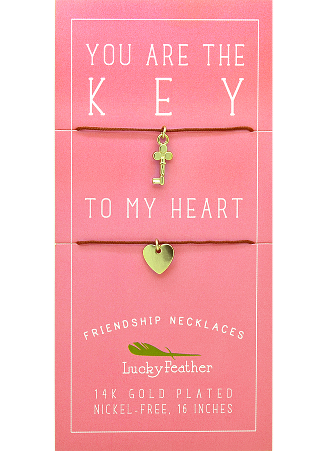 Friendship Collection  Key to My Heart Necklace Set