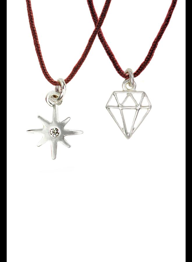 Friendship Collection  Friendship Necklace Sparkle/Diamond