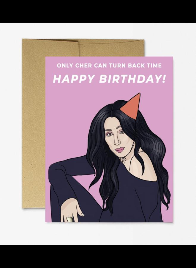 "Cher ""Turn Back Time"" Birthday Card"