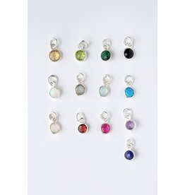 Charm Bar - Sterling Silver Gemstone Charms