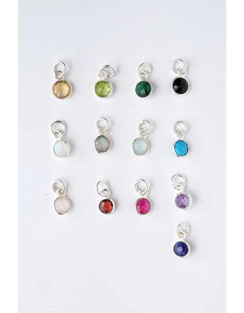 Charm Bar - Sterling Silver Gemstone Charms