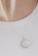Medium Moonstone Drop Necklace