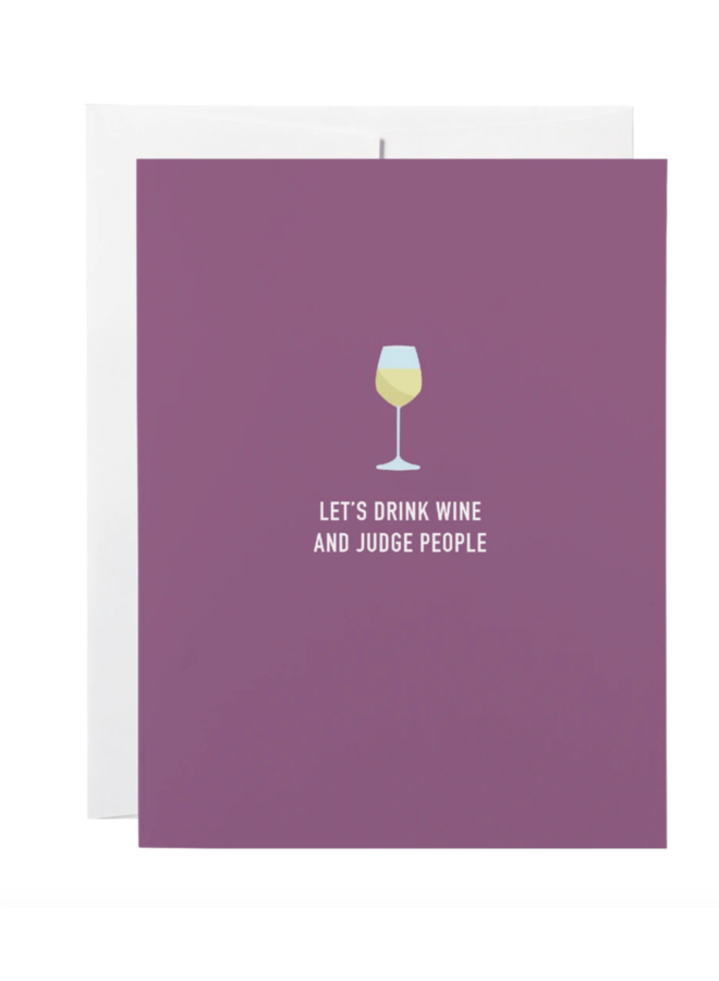 Classy Greeting Wine Cards