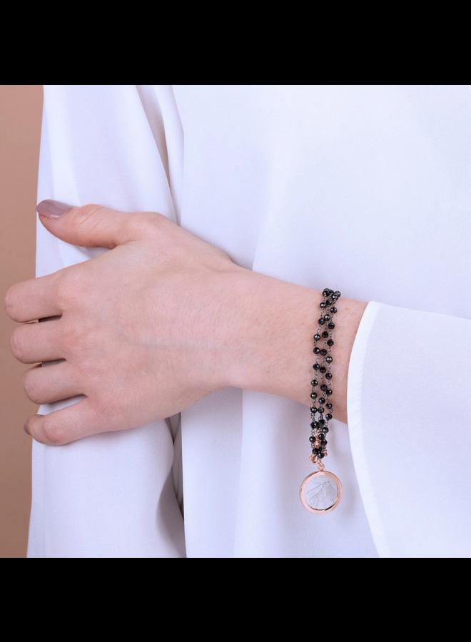 Lira with Bee Bracelet Black Spinel