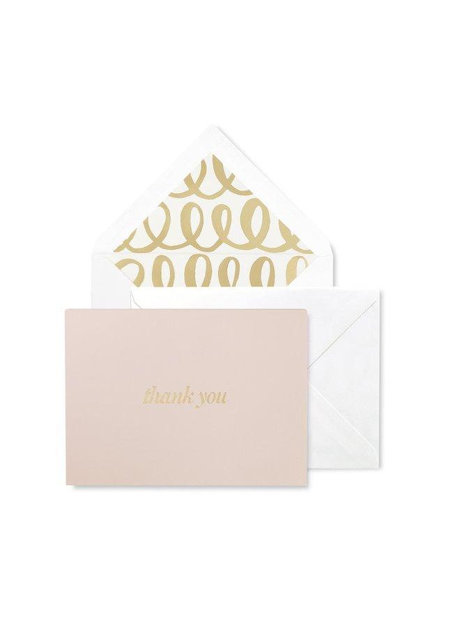Bridal Thank You Card Set Heart Knot