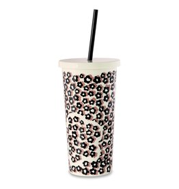 Tumbler w/Straw Flair Flower