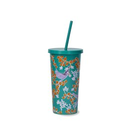 Tumbler w/Straw Bird Party