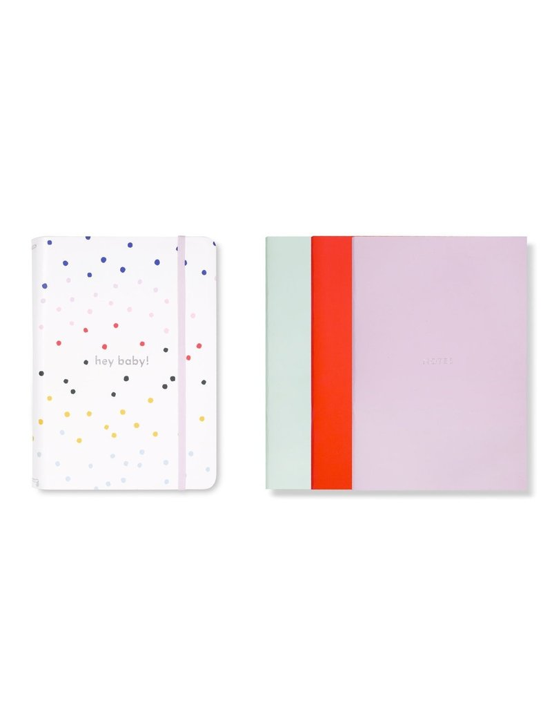 Baby Triple Notebook Dancing Dot Hey Babe!