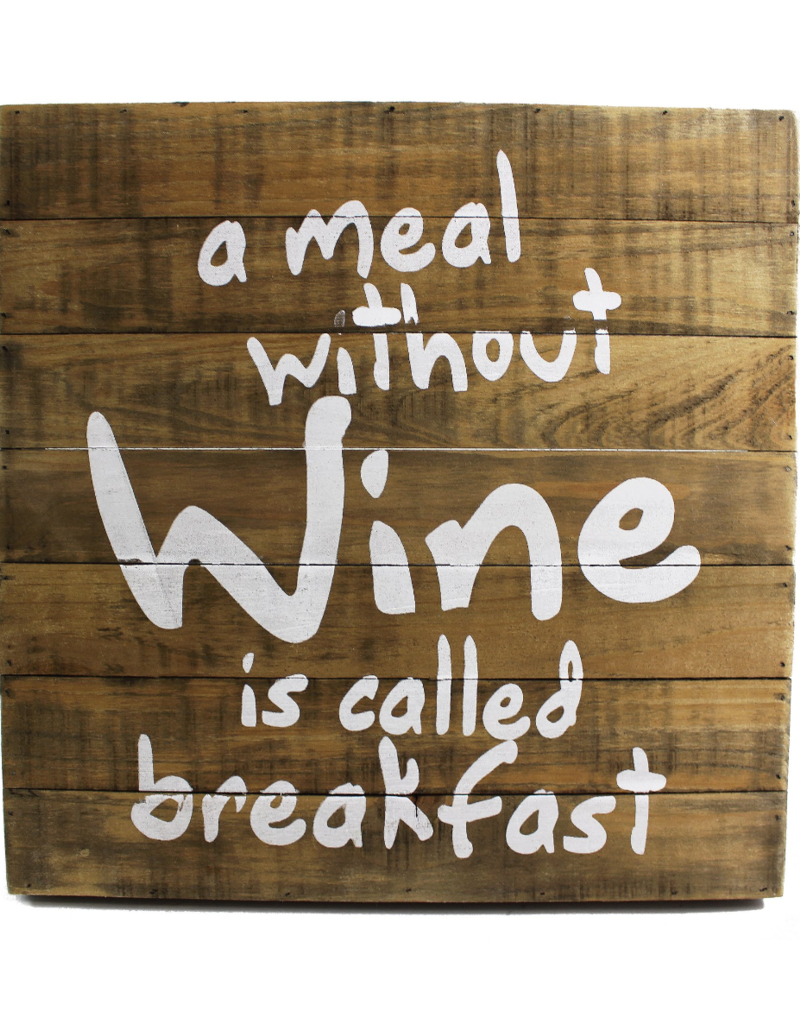 Sign Meal Without Wine