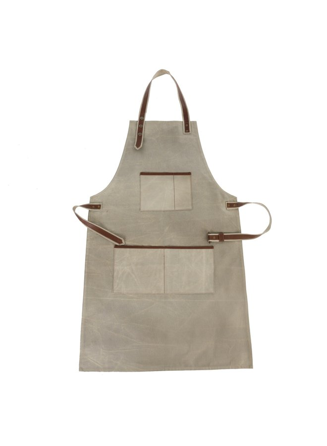 Canvas & Leather Natural Apron