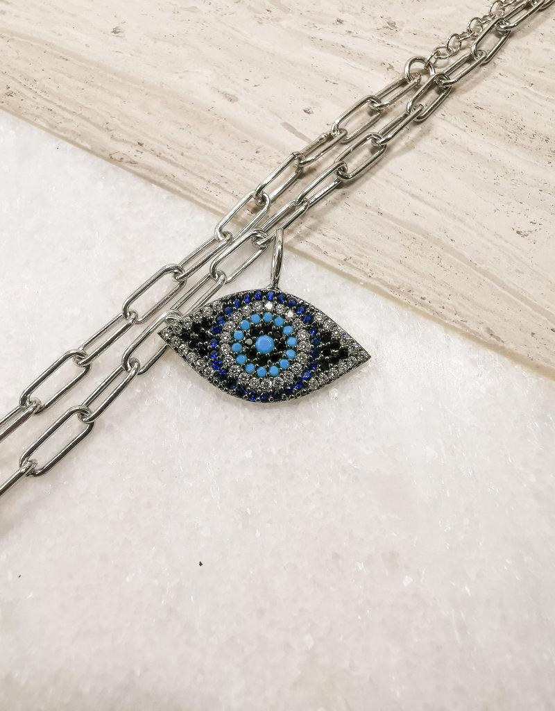 Göz Charm Rhodium