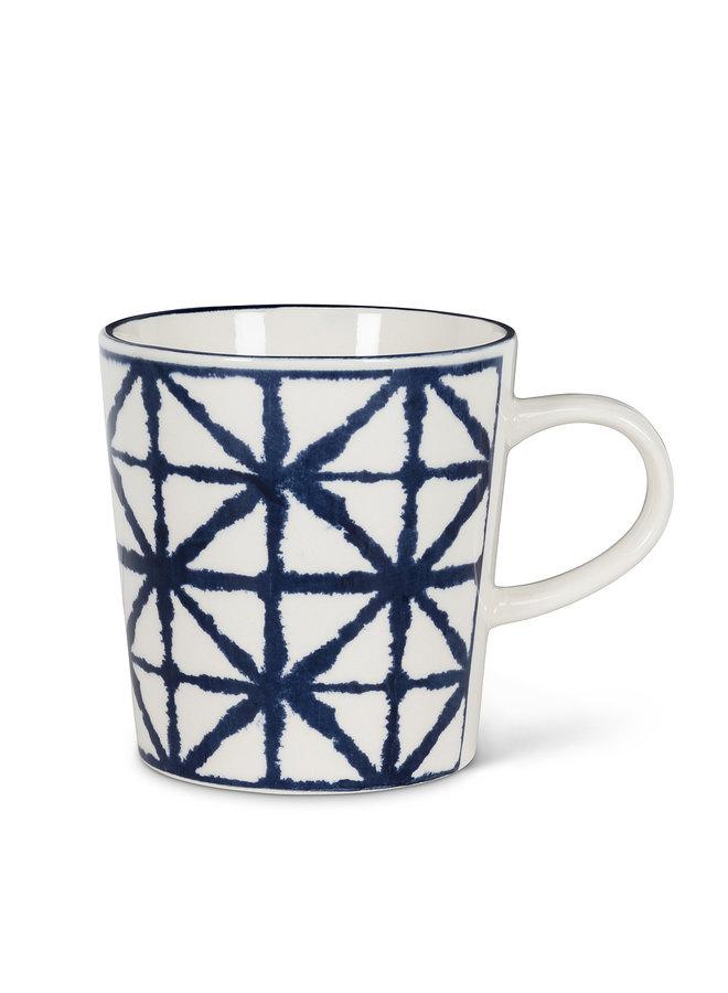 Blue & White Crossed Weaved Mug