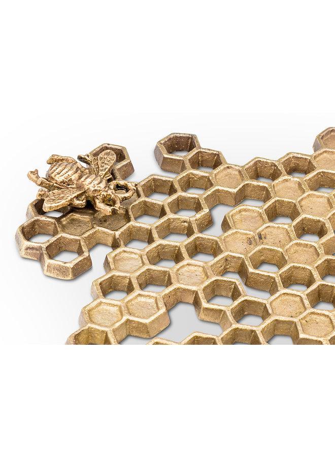 Honeycomb Trivet w/Bee
