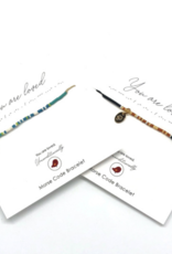 Morse Code Bracelet - You Are Loved