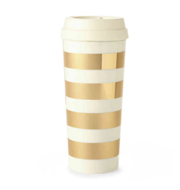 Thermal Mug  Gold Stripe