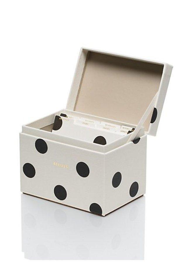 Deco Dot Recipe Box