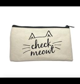 Make Up Bag - Check Meowt