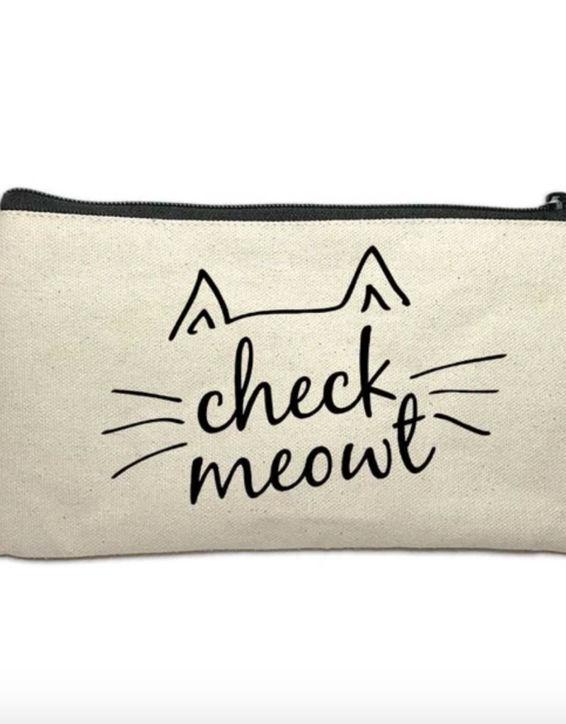 Make Up Bag - Check Meowt