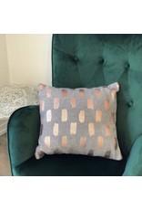 Grey & Copper Cushion