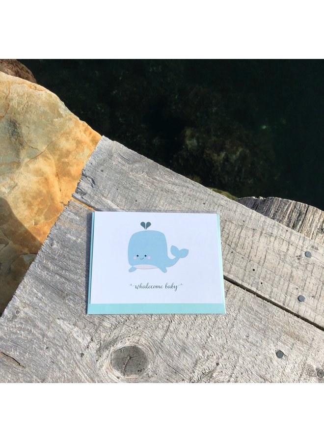 Whalecome Baby Card