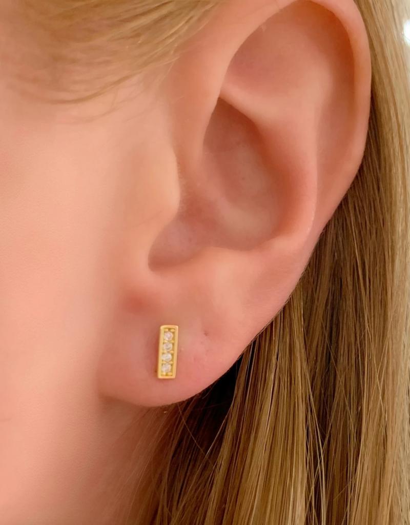 Mini Line Stud Earrings