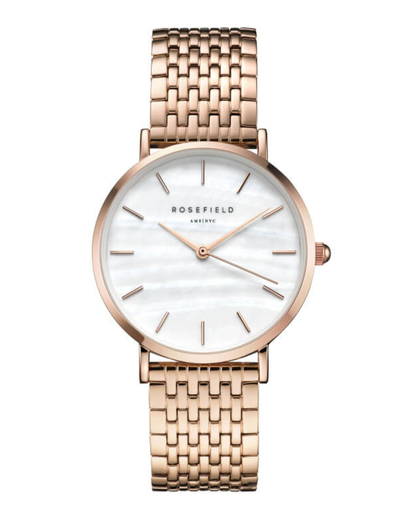 Rosefield Watch - The Upper East Side White Pearl & Rose Gold