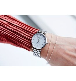 Rosefield Watch - The Upper East Side White Pearl & Silver