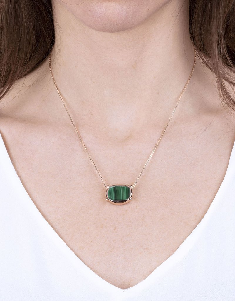 Small Disc Pendant Necklace