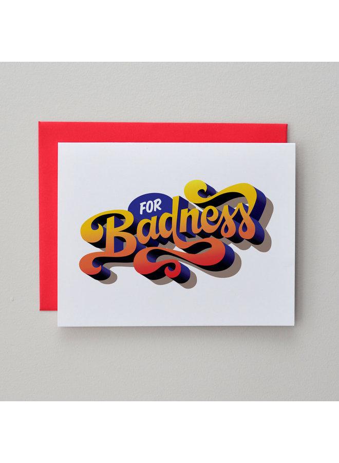 For Badness Card