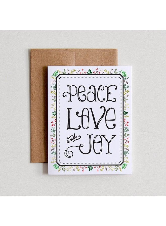 Peace Love & Joy Card
